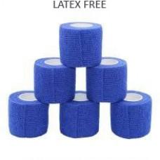LATEX FREE - Cohesive Bandage 5.0cm - Blue