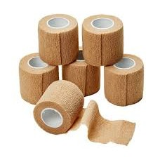Cohesive Bandage 5.0cm  - Tan