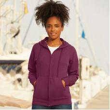 Lady-fit lightweight hooded sweatshirt jacket