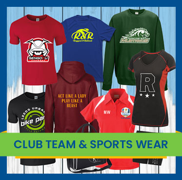Club teams & sportswear